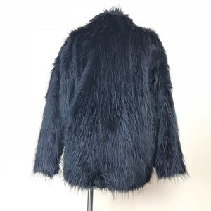 Gallery Jackets & Coats - 90s Vintage Faux Fur Coat - Oversized M/L